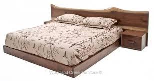 platform bed upholstered headboard zen furniture natural