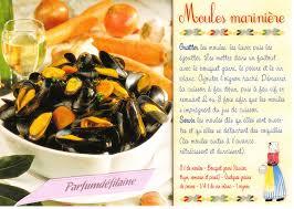 cuisiner des moules au vin blanc carte postale recette moules marinières cuisine plats poisson