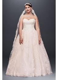 plus size pink wedding dresses plus size wedding gown with lace appliques david s bridal