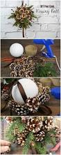 diy kissing ball with pine cones crafts unleashed kissing ball