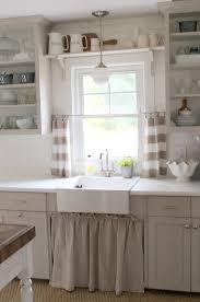 Kitchen Sink Lighting Ideas Love The Open Shelving U0026 Cabinet Curtain Under The Sink For The