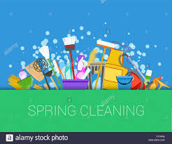 springcleaning spring cleaning background set of cleaning supplies tools of