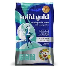 solid gold barking at the moon holistic dry dog food beef eggs