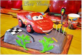 lea u0027s cooking cars lightning mcqueen cake topper tutorial