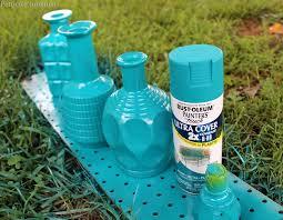diy spray paint glass decanters for home decor spray paint