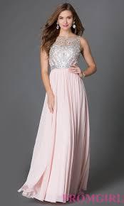 jewelled floor length prom dress promgirl