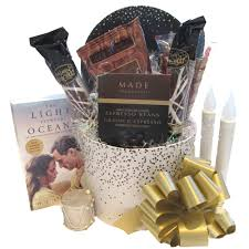 Book Gift Baskets Coffee Lover U0027s Silver And Gold Gift Basket With Book