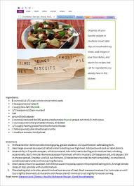 Templates For Cookbooks cookbook template 31 free psd eps indesign word pdf format