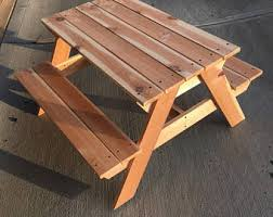 How To Make A Picnic Table Out Of 1 Sheet Of Plywood by Picnic Table Etsy