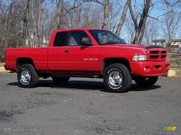 Dodge Ram 99 - 1999 flame red dodge ram 1500 sport extended cab 4x4 45955233