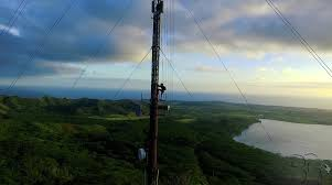 radio tower insane adrenaline junkies climb radio tower in kauai kauai surf