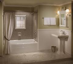 bathroom how you remodel properly charming modern bathroom remodel white bath tub fixtures two toned walls light flooring