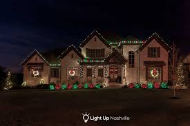 Red And White Christmas Lights by Holiday Lighting Portfolio Light Up Nashville