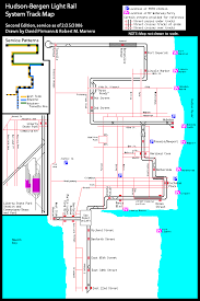 hudson bergen light rail map nycsubway org jersey transit hudson bergen light rail