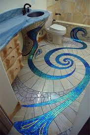 bathroom blue mosaic blue tiles blue and white bathroom style