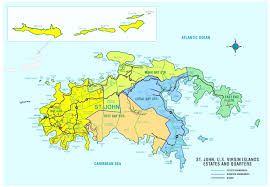 map usvi st us islands map major tourist attractions