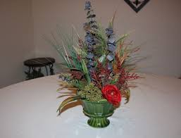 custom spring decor silk flower arrangement home decorating