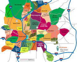 Map Of America by Atlanta Neighborhood Map Map Of Atlanta Neighborhoods United