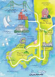 Map Of Newport Ri Kearsley Lloyd Graphic Designer Colleen Map Design 01