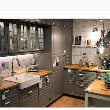 ikea bodbyn gray kitchen cabinets ikea kitchen posted on instagram bodbyn ikeahome ikea