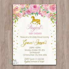 baby shower invitations at party city unicorn baby shower invitation unicorn invitation pink gold baby