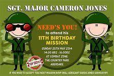 army invitations cards u0026 stationery ebay