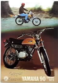 vintage yamaha 90 ht1 enduro dealer poster or brochure