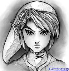 how to draw link easy step by step video game characters pop