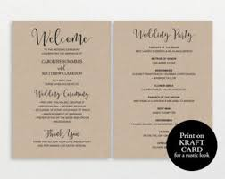 Wedding Ceremony Programs Diy Diy Wedding Program Etsy