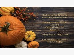 nov 23 thanksgiving at the renaissance woodbridge woodbridge