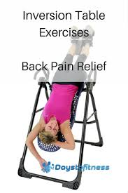 do inversion tables help back pain inversion table exercises for back pain relief days to fitness