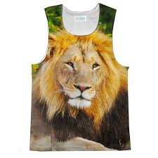 lion print lion face tank top shelfies