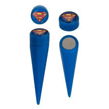 superman earrings superman faux taper magnetic earrings