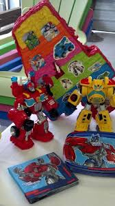 transformers rescue bots party supplies use the rescue bots toys as decor transformer plates napkins