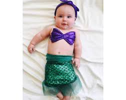 Ariel Mermaid Halloween Costume Baby Mermaid Costume Etsy