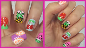 easy fruit nail art youtube