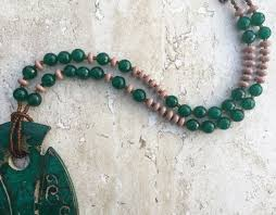 jade beads necklace images Ancient chinese jade necklace big bold chunky necklace ethnic JPG