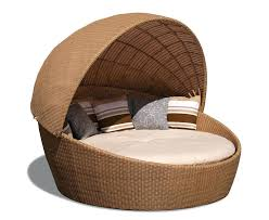 outdoor chair with canopy oyster shell round outdoor rattan daybed