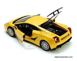 lamborghini gallardo superleggera yellow lamborghini gallardo superleggera top 73346yl 6 1 24 scale