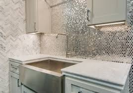 kitchen reflective metallic kitchen backsplash tile stainless