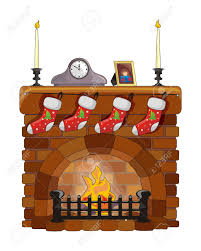 object fireplace on christmas and new year royalty free cliparts