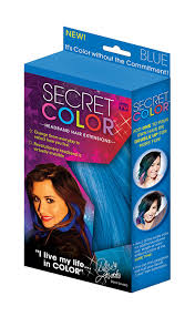 amazon com secret color hair extensions blue beauty