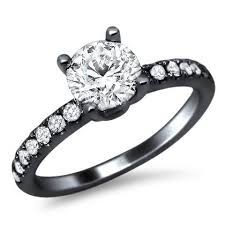 black gold engagement ring 18k black gold diamond engagement ring here s a simple but