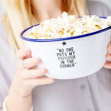 quote joy movie personalised movie quote enamel popcorn bowl by sophia victoria