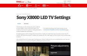 sony x800d led tv settings