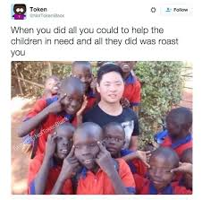 Black Chinese Man Meme - admin helps out african kids