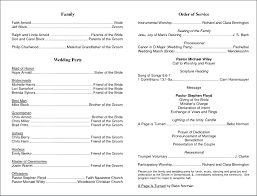 programs for weddings templates template program for wedding template great exles of programs
