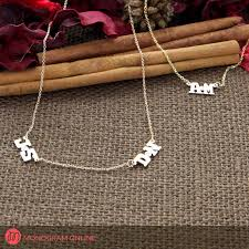 initials necklace silver personalized two initial necklace with diamond