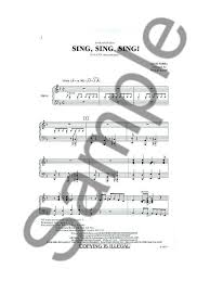 sing sing sing with a swing louis prima partitions louis prima sing sing sing sing satb piano