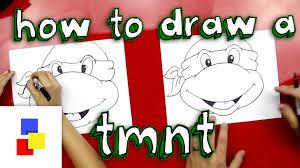draw teenage mutant ninja turtle face